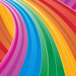 Stock Vector: Sweeping rainbow wave