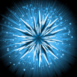 Royalty-Free Stock Vector Image: Abstract ice star on an exploding starburst background
