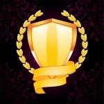Classic style metallic emblem — Stock Vector