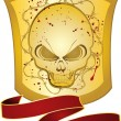 Royalty-Free Stock Imagen vectorial: Shield with skull