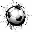 Vector football ball (soccer) — Imagen vectorial
