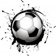 Vector football ball (soccer) — Vektorgrafik
