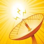 Silhouette satellite — Stock Vector #12635621