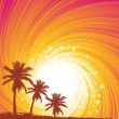 Tropical sunset — Vector de stock #12635842