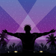 Royalty-Free Stock Imagem Vetorial: Tropical disco