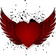 Heart with the wings — Stock Vector #12635913