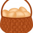 Stock Vector: Egg basket