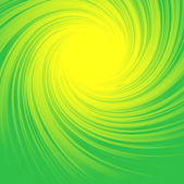 Abstract background with yellow and green swirl — Stock Vector