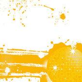 Abstract grunge disco ball — Stock Vector