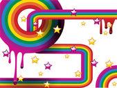 Swriling rainbow — Stock Vector