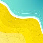 楽しい休日ビーチ背景ターコイズ ブルーの海に — ストックベクタ