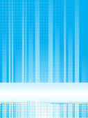 CLIPART ILLUSTRATION OF A BLUE BACKGROUND OF GRADIENT BLUE LINES, DOTS AND A BAR WITH A GRID PATTERN — Stock Vector