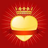 情人节皇冠和横幅 — 图库矢量图片