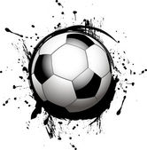 Vector football ball (soccer) — Stock Vector