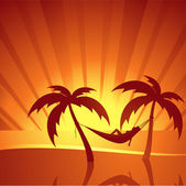 Sfondo tropicale — Vettoriale Stock