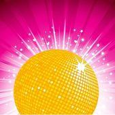 Gold disco ball theme — Stock Vector