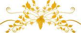 Vector floral design element — Stock Vector