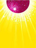 Purple disco ball — Stock Vector