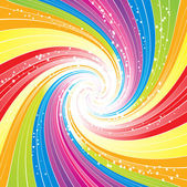 Abstract rainbow lines vector background — Stock Vector