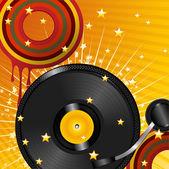 Vinyl color disco dots — Stock Vector