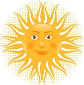 Orange sun — Stock Vector