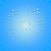 Blue water drops background — Vecteur