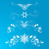 Abstract blue snowflakes background — Stock Vector