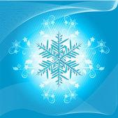 Blue snowflake — Stock Vector