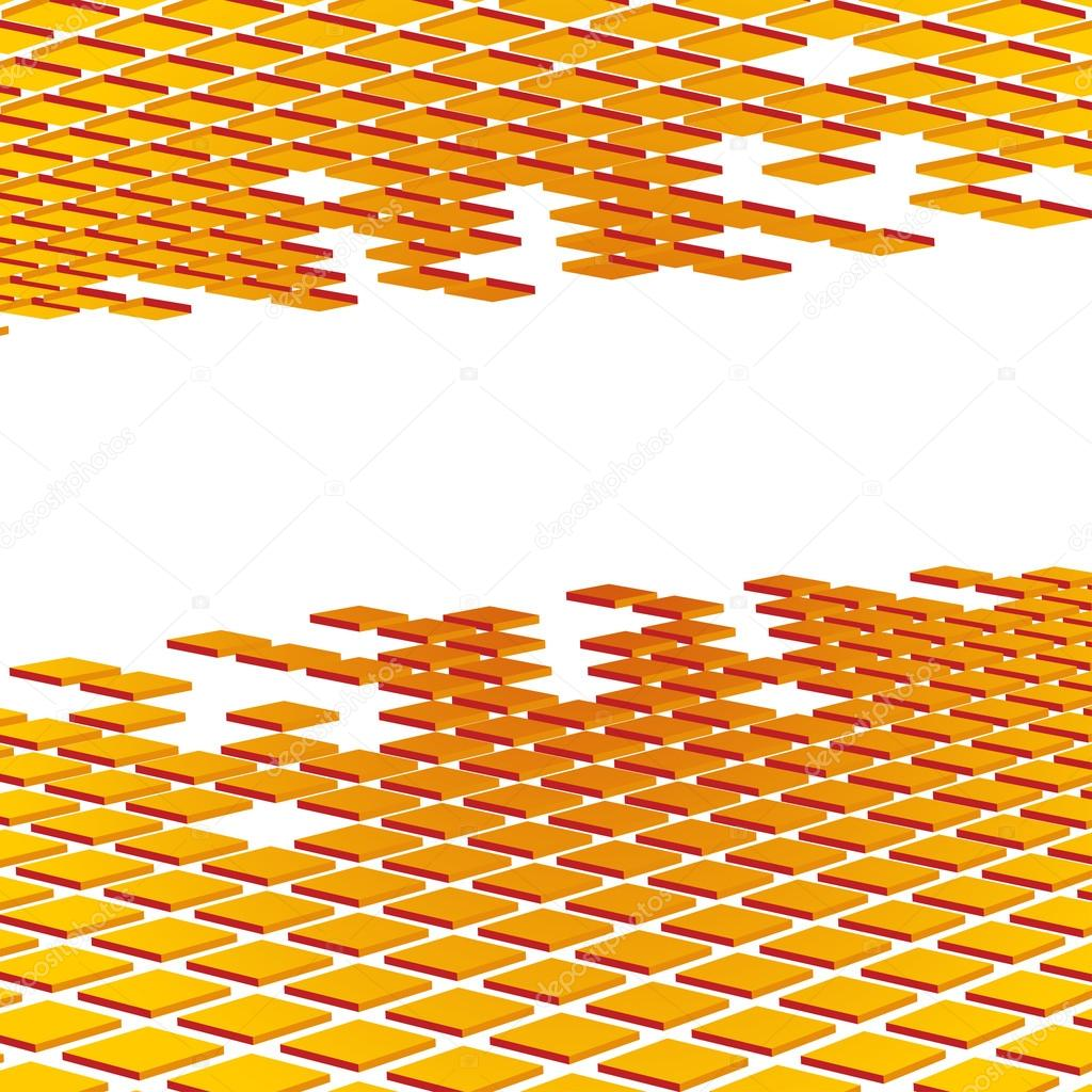 Abstract background of perspecitve orange mosaic tilese — Stock Vector #12634391