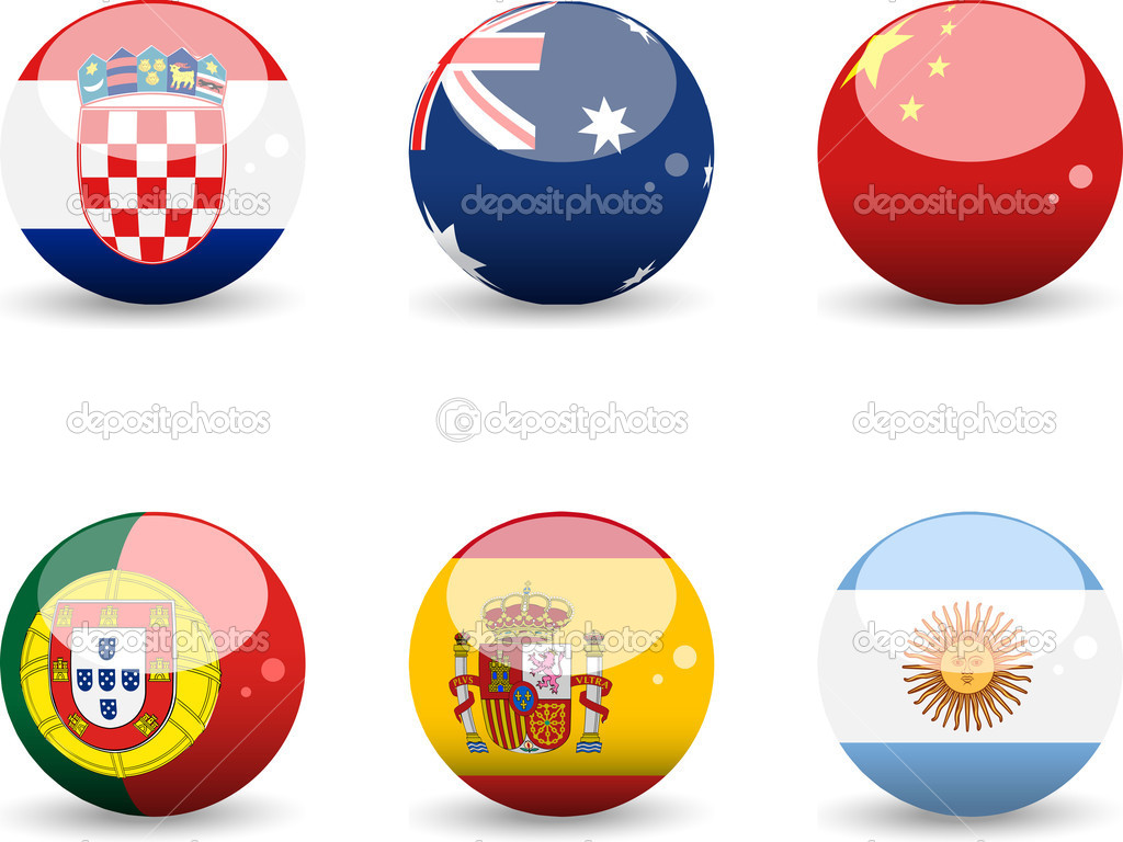 Set of Flags — Stock Vector #12635046