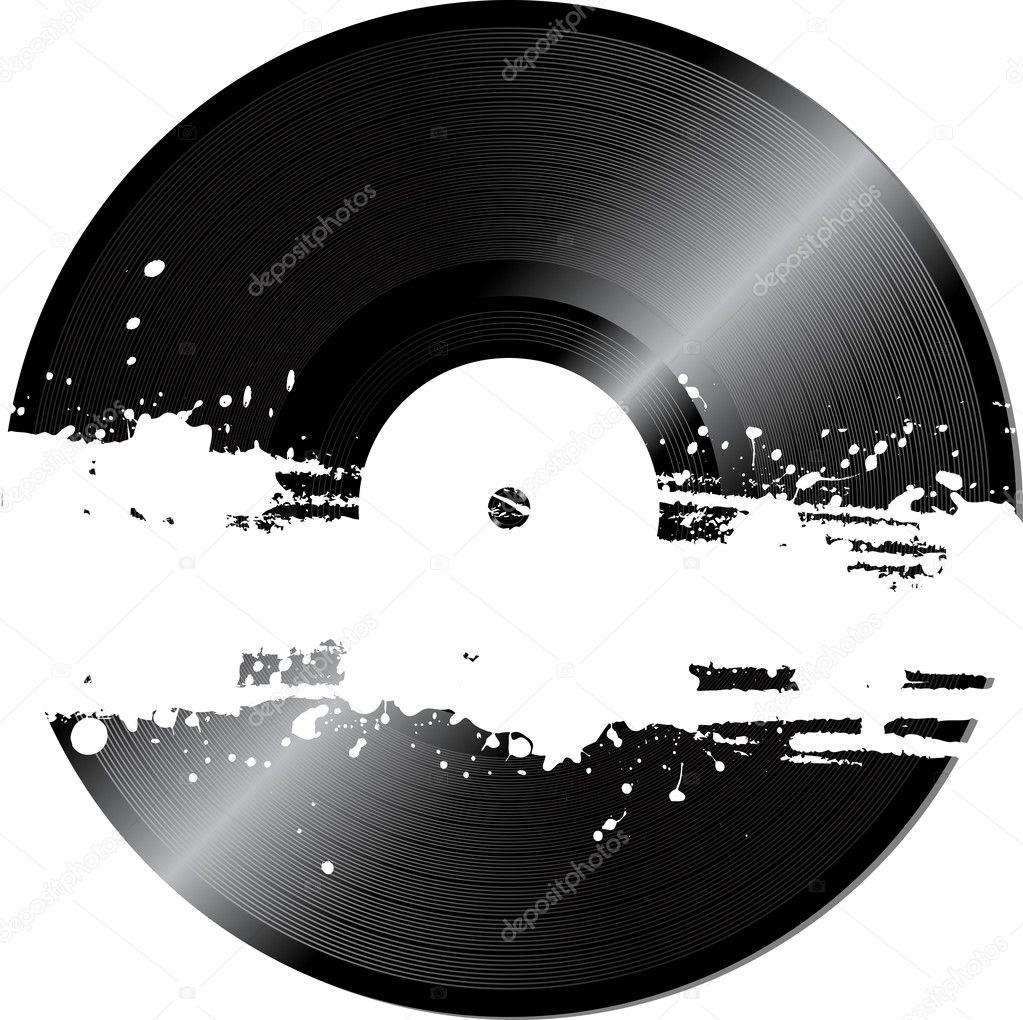 Retro Vinyl Record Vector Stock Vector 12635258