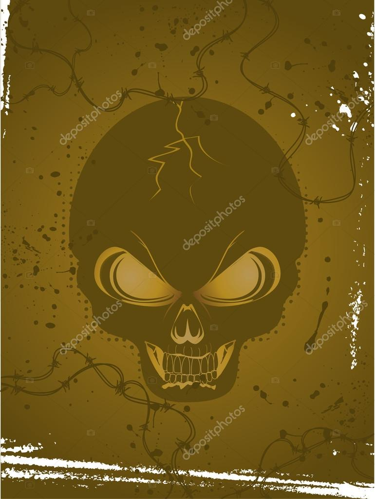 Illustration of skull  Vettoriali Stock  #12635683