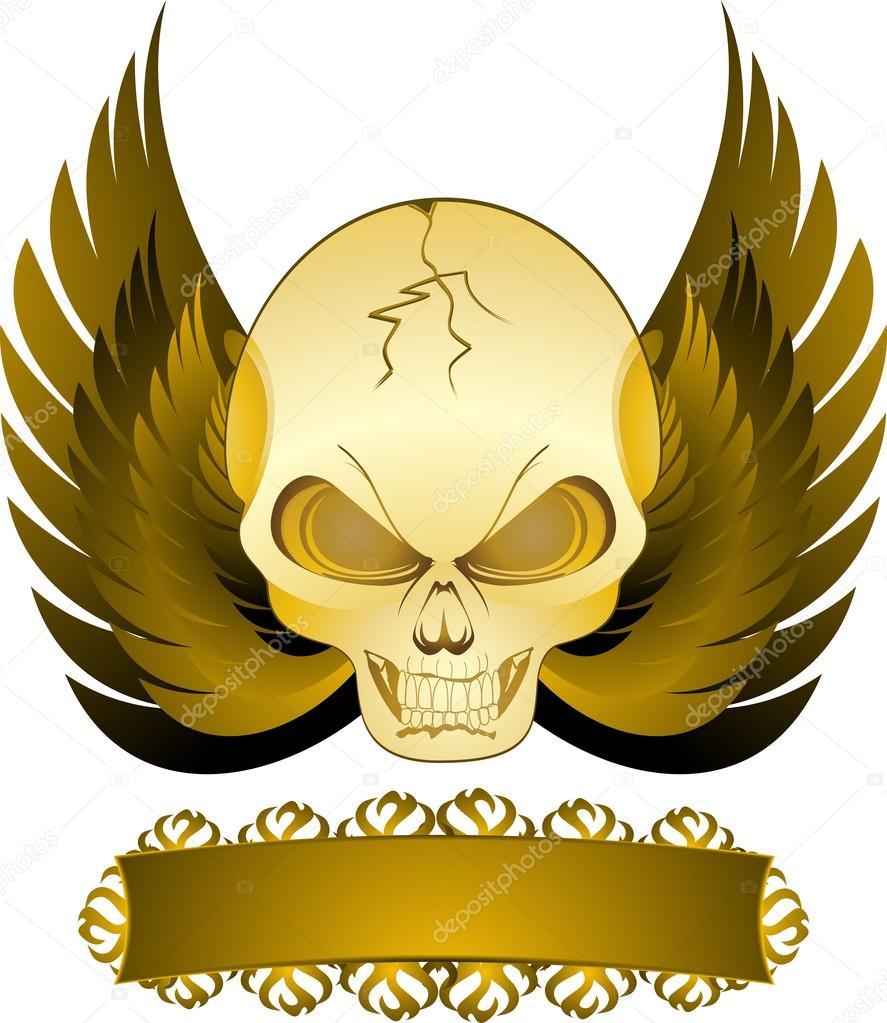 Illustration of skull  Stock Vector #12635690