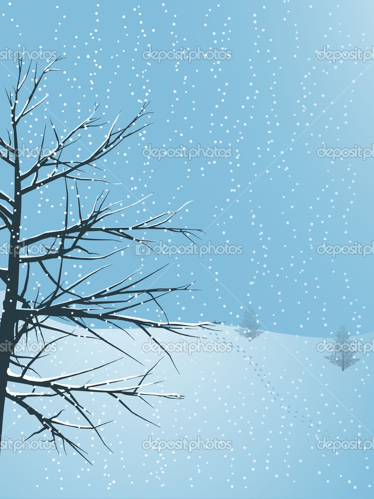 Winter landscape — Stock Vector #12635970