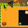 Halloween scrapbook background — Stock Photo