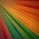 Rainbow corrugated cardboard background — Stock Photo #12737857