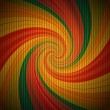 Retro psychedelic background — Image vectorielle
