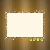 Pappersrevor på kartong med knappar — Stockvektor