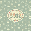Retro new year background green - Stock Vector