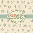 Vintage 2012 background and ribbon — Stock Vector