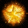 Sparkling gold christmas star - Stock Vector