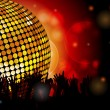 Disco ball and crowd - Stock Vector