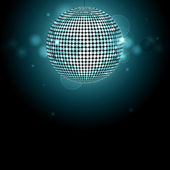 Disco ball background glowing — Vector de stock