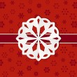 Christmas paper snowflake background - Stock Vector