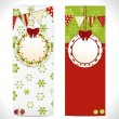 Christmas banner background labels — Stockvectorbeeld