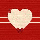 Valentine heart label background — Stock Vector