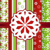 Christmas scrap book background with snowflake — Stock Vector