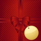 новогодний фон красный подарочной упаковке — Cтоковый вектор