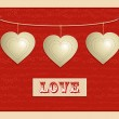 Love and hanging hearts background2 — Stock Vector