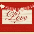 Stock Vector: Valentine love script background
